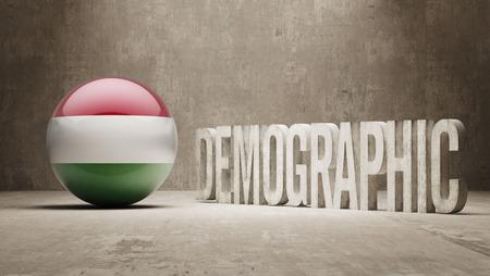 demographic: Hungary High Resolution Demographic  Concept