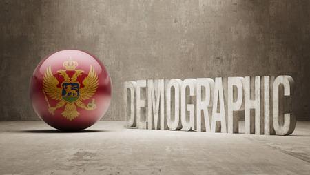 demographic: Montenegro ad alta risoluzione demografici Concetto