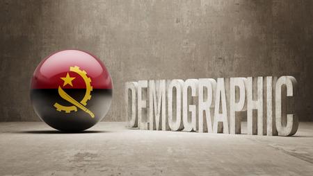 angola: Angola High Resolution Demographic  Concept Stock Photo