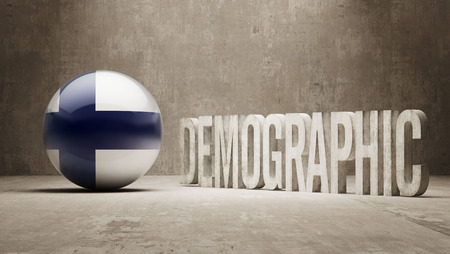 demographic: Finland High Resolution Demographic  Concept Stock Photo