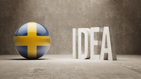 education in sweden: Sweden High Resolution Idea  Concept