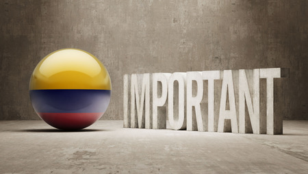 weighty: Colombia High Resolution Important  Concept