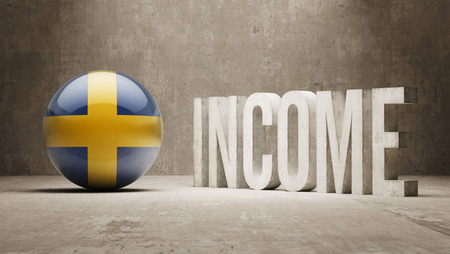 price gain: Sweden High Resolution Income  Concept