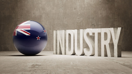 manufactory: New Zealand High Resolution Industry Concept Stock Photo