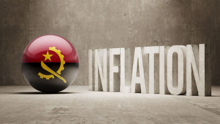 inflation: Angola High Resolution Inflation Concept Stock Photo