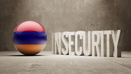 insecurity: Armenia High Resolution Insecurity Concept Stock Photo