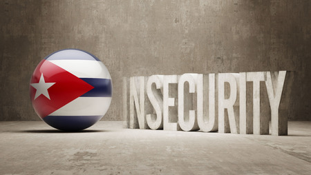 cuban flag: Cuba High Resolution Insecurity Concept