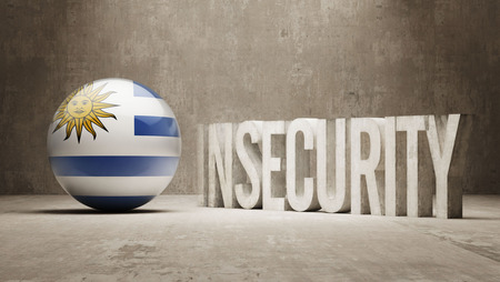 insecurity: Uruguay High Resolution Insecurity Concept Stock Photo