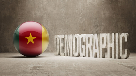 demographic: Camerun Alta Risoluzione demografici Concetto Archivio Fotografico