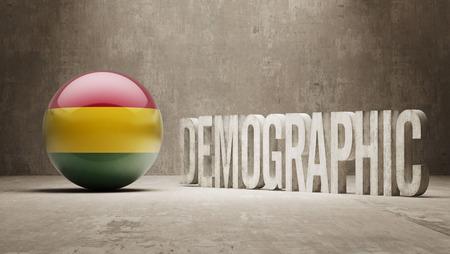 demographic: Bolivia ad alta risoluzione demografici Concetto