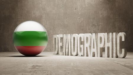 demographic: Bulgaria ad alta risoluzione demografici Concetto Archivio Fotografico