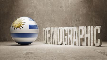 demographic: Uruguay High Resolution Demographic  Concept Stock Photo
