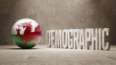 demographic: Wales High Resolution demografici Concetto