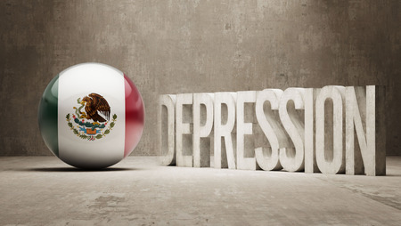 collapsing: Mexico High Resolution Depression  Concept Stock Photo