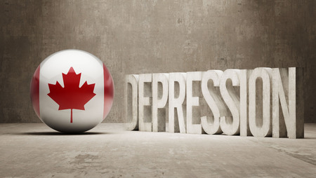Canada High Resolution Depression  Concept photo