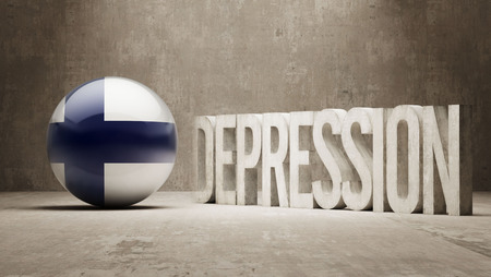 collapsing: Finland High Resolution Depression  Concept Stock Photo