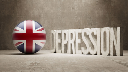 United Kingdom High Resolution Depression  Concept Stock Photo