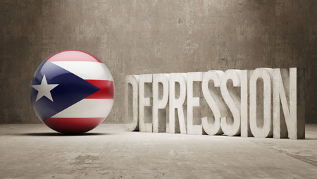 collapsing: Puerto Rico High Resolution Depression  Concept