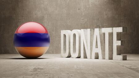 armenian: Armenia High Resolution Donate  Concept