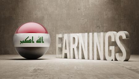 iraq money: Iraq High Resolution Earnings  Concept