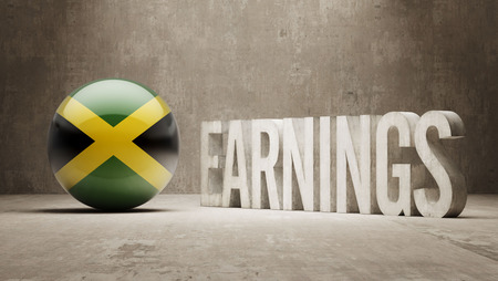 ascent: Jamaica High Resolution Earnings  Concept Stock Photo