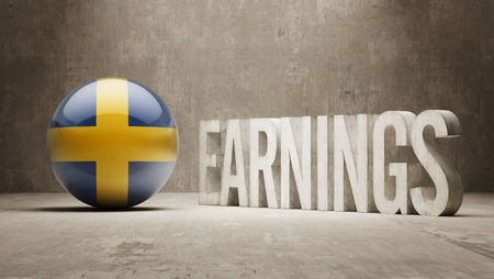 ascent: Sweden High Resolution Earnings  Concept Stock Photo