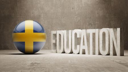 education in sweden: Sweden High Resolution Education  Concept