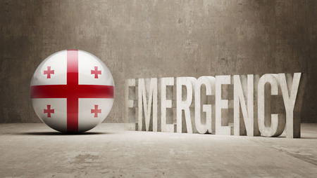 health care funding: Georgia High Resolution Emergency  Concept Stock Photo