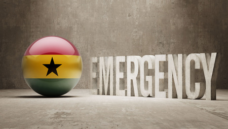 health care funding: Ghana High Resolution Emergency  Concept