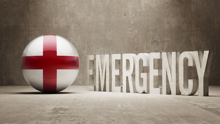 health care funding: England High Resolution Emergency  Concept