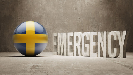 health care funding: Sweden High Resolution Emergency  Concept