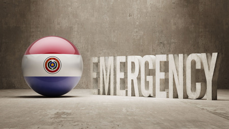 health care funding: Paraguay High Resolution Emergency  Concept