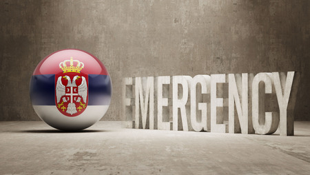 health care funding: Serbia High Resolution Emergency  Concept