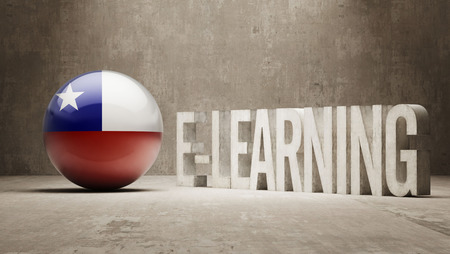 Chile Concepto de alta resoluci�n de E-Learning photo