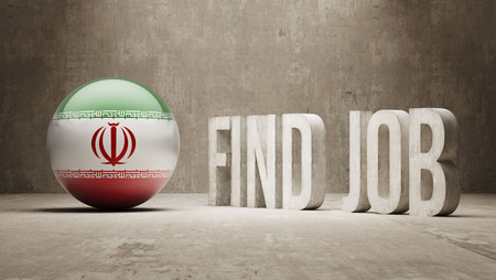 Iran High Resolution Find Job  Concept photo