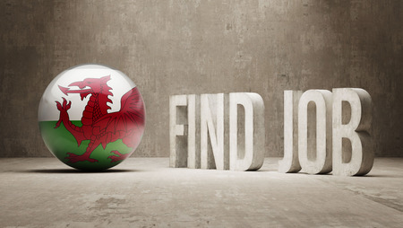classified ad: Wales High Resolution Find Job  Concept Stock Photo