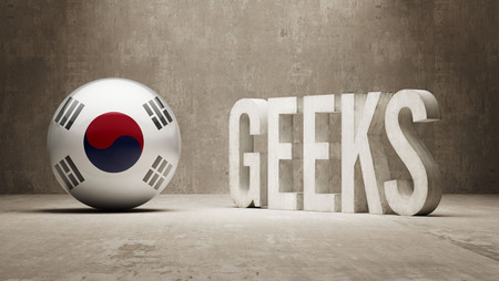 South Korea High Resolution Geeks  Concept photo