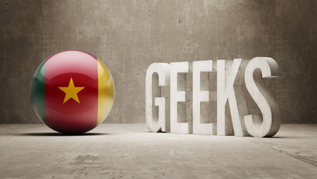 cameroon: Cameroon High Resolution Geeks  Concept Stock Photo