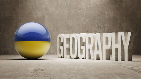 Ukraine High Resolution Geography  Concept photo