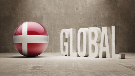 danish flag: Denmark High Resolution Global  Concept