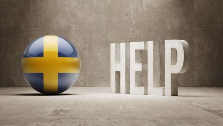 Sweden High Resolution Help  Concept photo