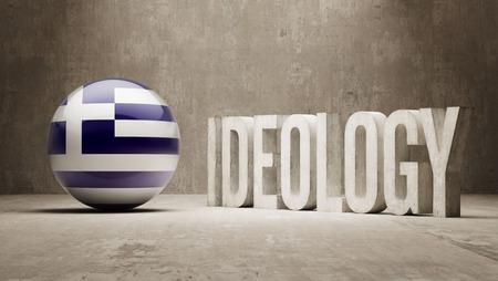 ideology: Greece High Resolution Ideology  Concept