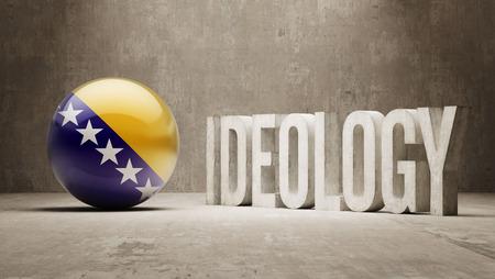 ideology: Bosnia and Herzegovina High Resolution Ideology  Concept Stock Photo