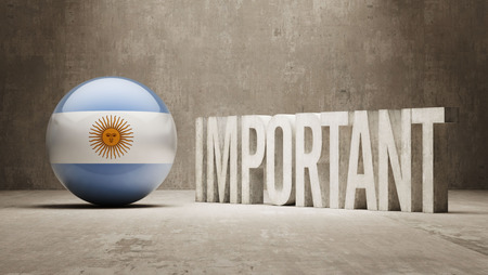 ponderous: Argentina High Resolution Important  Concept Stock Photo