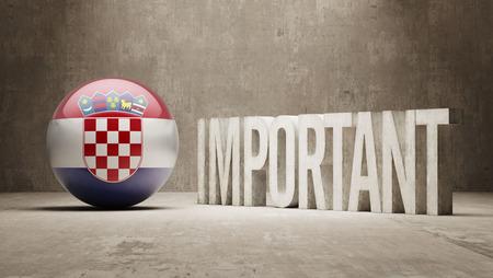 ponderous: Croatia High Resolution Important  Concept