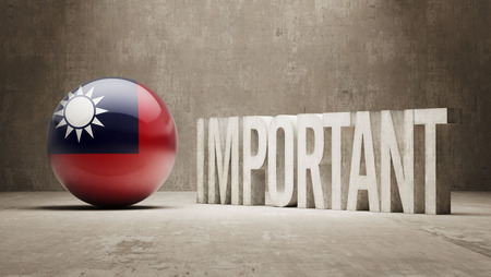 ponderous: Taiwan High Resolution Important  Concept Stock Photo