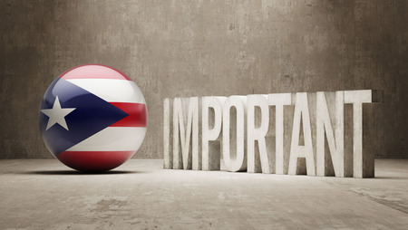 ponderous: Puerto Rico High Resolution Important  Concept Stock Photo