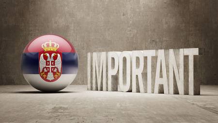 ponderous: Serbia High Resolution Important  Concept