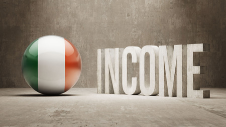 price gain: Ireland High Resolution Income  Concept Stock Photo