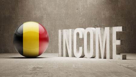 price gain: Belgium High Resolution Income  Concept